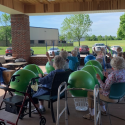 Drumming at McDowell Place